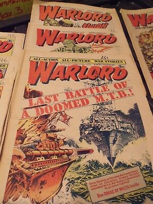 WARLORD COMIC x3  #53,#54,#62 1975 by DC THOMSON. FREE UK POSTAGE