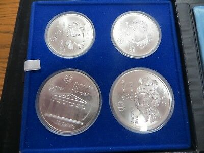 1976 Proof Silver Canadian Montreal Olympic Games Set -4 Coin Set