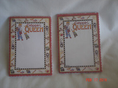 FUN LOT 2 2004 MARY ENGELBREIT INK CROPPIN' QUEEN Scrapbooking MAGNETIC NOTE PAD
