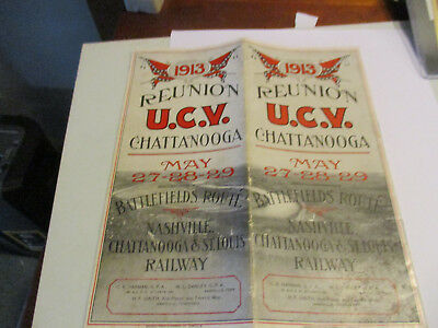 1913 U C V Reunion Chattanooga Railway Brochure Colorful & Excellent!