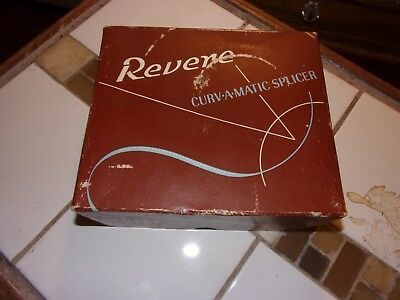 vintage Revere Curvamatic 8 & 16mm film splicer