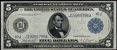 Fr 882 1914 $5 Federal Reserve Note Kansas City XF