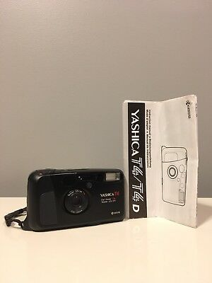 Yashica T4 D 35mm Point & Shoot Film Camera ** Tested / Clean + Great!