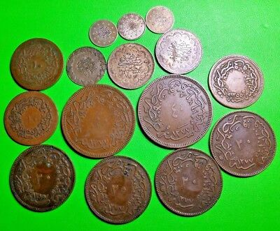 Turkey Coin Lot-15 Identified Coins With Silver & An Error!  Free USA Shipping