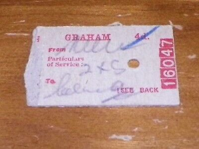 Early Train Ticket 1946 Graham Station, Melbourne, Victoria?