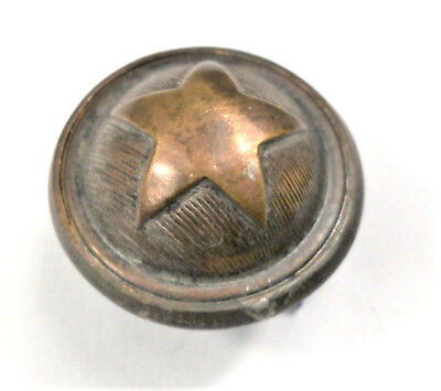 Uniform Button - WW2 Era Copper Domed ARMY STAR Uniform Button - Sam Biern NY