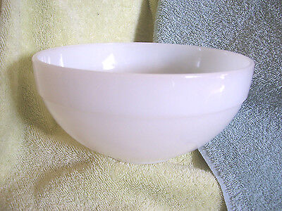 Anchor Hocking FIRE KING BOWL Colonial Kitchen WHITE Mixing Serving 7+ OVEN WARE