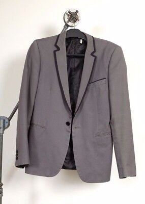 WE ROB BANKS mens grey blazer - size M