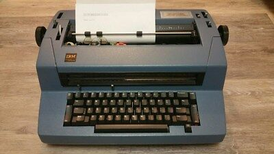 Rare 'BLUE' IBM Correcting Selectric III Electronic Typewriter Tested
