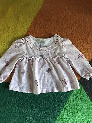 Bebe By Minihaha Size 00 Baby Girl Top Super Cuteee Excellent Condition