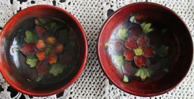 Two Lovely Moorcroft Small Floral Bowls
