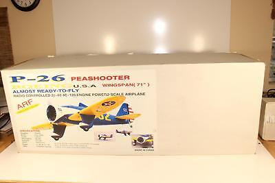 P-26 Peashooter RC ARF Model 71inch Wingspan 60 2c/100 4c Complete Kit Pre Owned