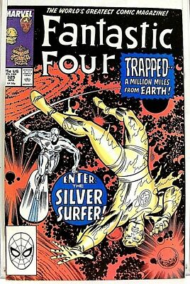 """FANTASTIC FOUR"" Issue #325 (Apr, 1989) Marvel Comic f. THE SILVER SURFER"