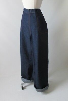Vintage 30's / 40's Style Side Button High Waist Retro Jeans  Trousers XL 1X