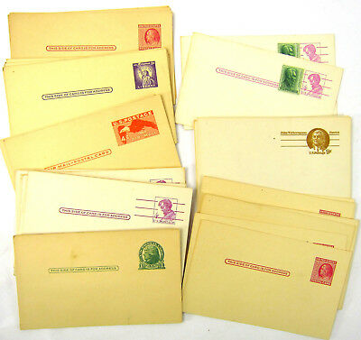 Vtg Lot of 60 US Prepaid Postage Postcards Unposted .01 .03 .02 .04 .09 Airmail