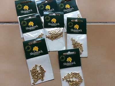 JEWELLERY FINDINGS.  END BAR 5 HOLE GOLD 4 piece pack  x 8 packs
