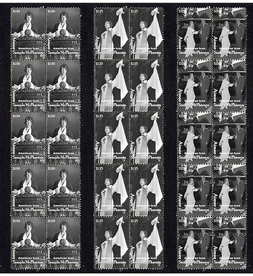 Aimee Semple Mcpherson Set Of 3 Mint Stamp Strips 1