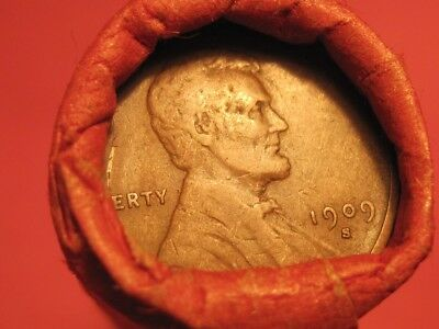 Roll of 'S' Mints Lincoln Wheat Cents 1909-S & 1920-S ends Teens ~ Fifties