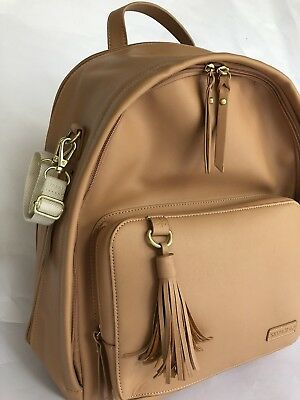 Skip Hop Greenwich Simply Chic Brown Back Pack Nappy Bag