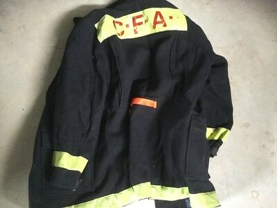 Old CFA black jacket coat firefighting obsolete great collectable item