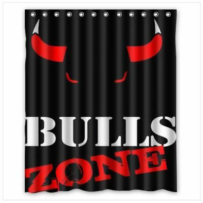 Nice Design Chicago Bulls Shower Curtain Size 60 X 72 Inch