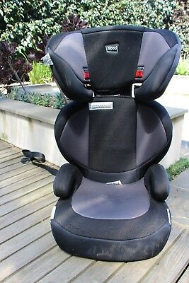 Hipod booster seat, dark grey / black colour