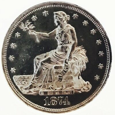 1874 Cc Trade Dollar! As Rare As It Gets! Amazing Details! Ms++++++ High $$$ Wow