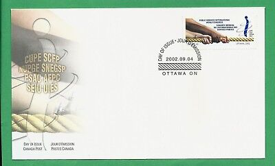 Public Services International World Congress, 2002 Canada First Day Cover