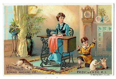 Household Sewing Machine Co. Providence R.I. Victorian Advertising Card c 1880's