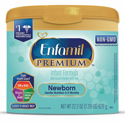 ENFAMIL NON-GMO Newborn Baby Formula, 0 to 3 months, Box of 8, each 22.2 onces