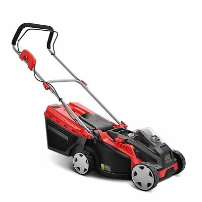 Cordless Lithium Battery Powered Electric Lawn Mower - Red & Black