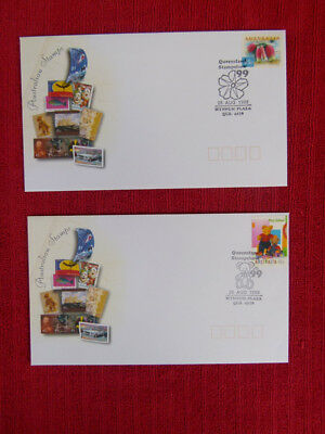 Souvenir Australian, Queensland Stampshow 1999 Day 1 & 2 Postmarks On Cover