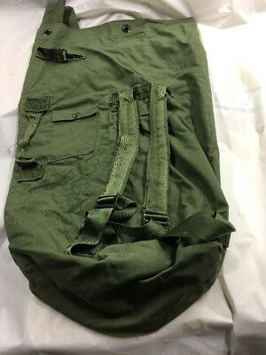 Genuine US Military Top Load Strap Duffle Bags, Sea Bag Olive Drab OD Navy/VGC