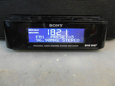 SONY XDR-DS12iP DIGITAL CLOCK RADIO DAB+ AND FM DUAL ALARMS IPOD/IPHONE DOCK