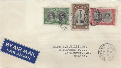 1939 Royal Visit #246-8 FDC with no cachet