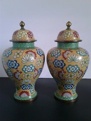 2 Antique Chinese Cloisonne  Urns Lt.19Th C. /early.20Th C. With  China Mark