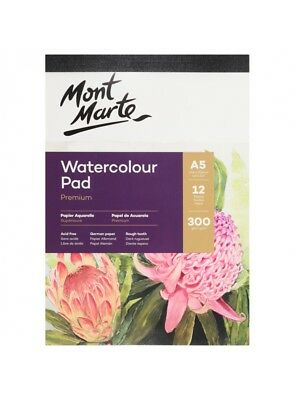 Mont Marte 300gsm A5 Watercolour Pad - Rough Tooth German Paper