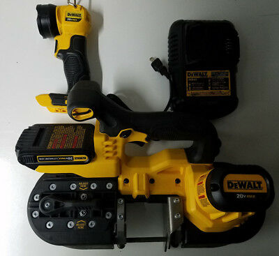 Dewalt 20v Lithium Cordless Band Saw Set with Battery, Charger, and Light