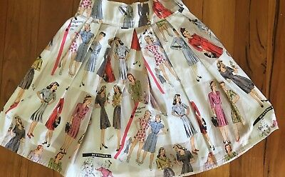 Quite rare original Vintage handmade skirt - Swing Rock n Roll - Size 10