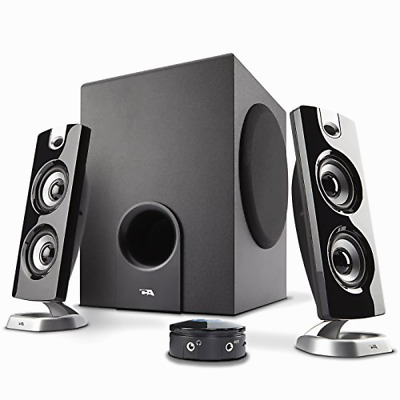 Computer Speaker w/ 3 Piece Sub Woofer System PCs Gaming Music Movies  Black New