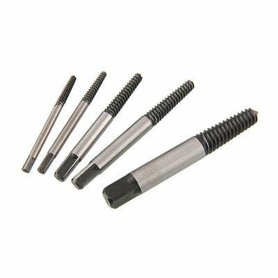 5pcs Screw Extractor Broken Damaged Bolt Stud Easy Out Remover Tools Kit