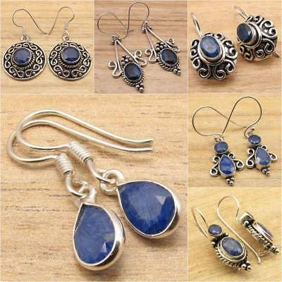 925 Silver Overlay Simulated SAPPHIRE FASHION Jewellery EARRINGS, Many Styles