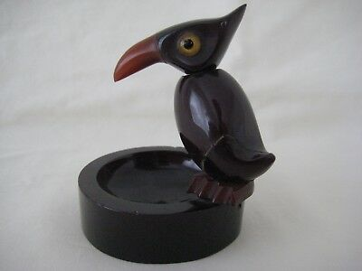Art Deco Bakelite YZ Bird Ashtray