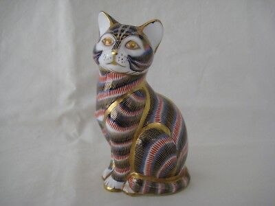 Royal Crown Derby Porcelain Cat Paperweight