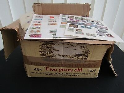 Box Containing 700+ Album Pages - Full Of Commonwealth/europe & World Stamps