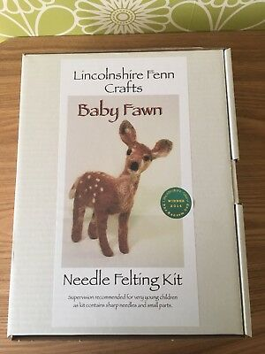 BNIB Baby Fawn Needle Felting Kit