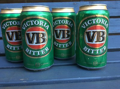 RARE 4 X VB ONLY Victoria Bitter BOONANZA 2005-06 Beer Can UNUSED-Collectable