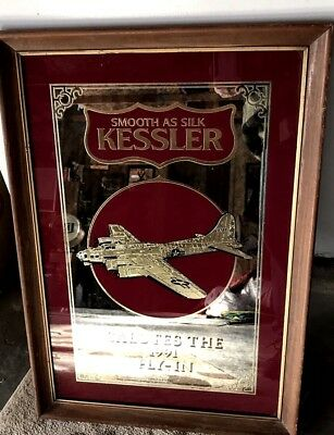 Kessler B-17 Flying Fortress EAA Salutes Fly-In Mirror 1991 Air Force Whiskey