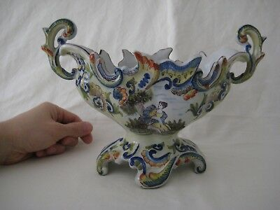 Old French Faience Quimper Centerpiece