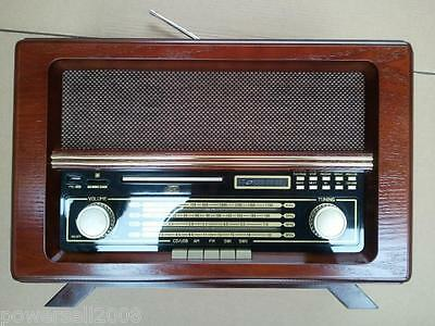 Wave Band Fashionable Classical Wooden L 51*W 29*H 34CM Red Desktop Radio